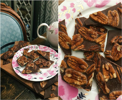 Pecan Chocolate Peanut Butter Brittle
