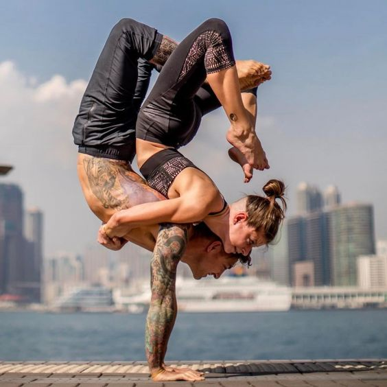 The upavista twist is one of the best couple yoga poses for couples who wish to enhance their relationship.