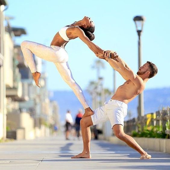 This is one of the best couple yoga poses around, so make sure you follow it closely.