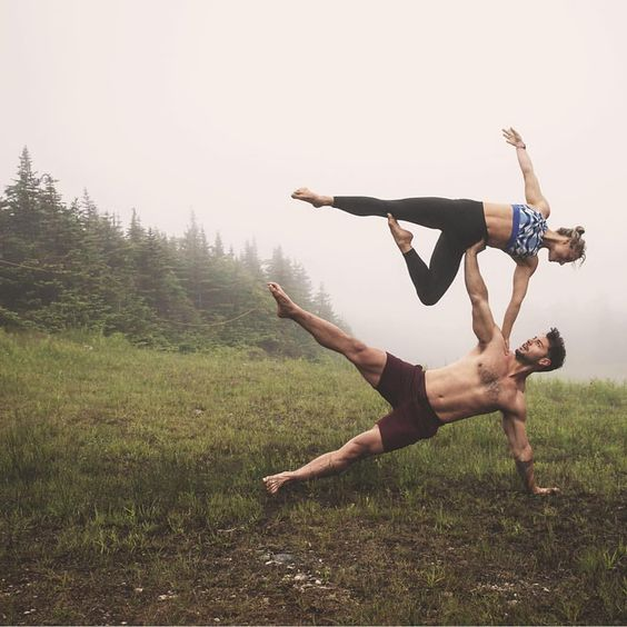 Who says that couple yoga poses have to be difficult
