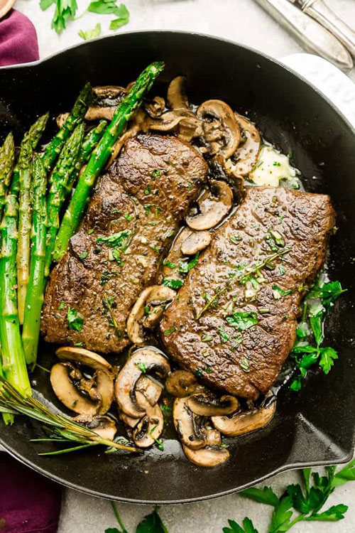 Marinated Garlic Butter Steak