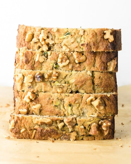 Keto Zucchini Bread with Walnuts